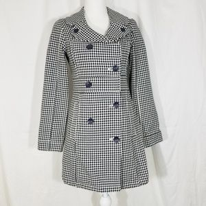 Volcom Houndstooth Button Trench Size Small